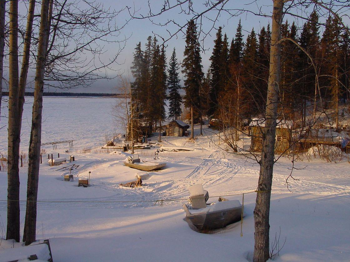 Birch Creek: the 'camp' where Linda lives with Jim.